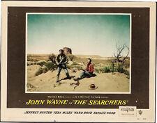 SEARCHERS, JOHN WAYNE 1956 ORIGINAL VINTAGE LOBBY CARD IN DESERT