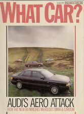AUDI 80 1.8E road test 1987 UK Opuscolo di mercato che AUTO? Carlton 190 SERIE 3