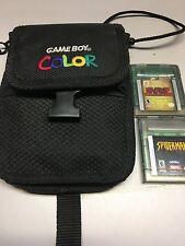 Game Boy Color bundle Case and 2 games