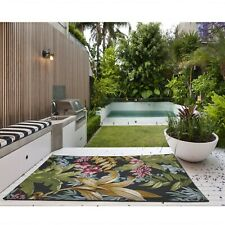 Tropicana 725K Indoor Outdoor Bright Bold Tropical Flatweave Rug various sizes