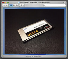 "2 Port USB 3.0 ExpressCard 34 Adapter *MacBook Pro 15""/17"" *OSX Native Supported"