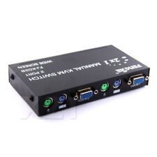VGA KVM Switch 2 PORT PS2 Keyboard Mouse Switcher Box Keyboard Hotkey Switch