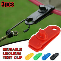 3X Reusable Tent Tarp Tarpaulin Clip Clamp Buckle Camping Tool Heavy Duty Sale