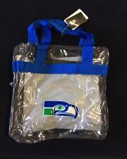 Seattle Seahawks Retro Throwback CLEAR Messenger Tote Bag Purse Game Security
