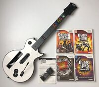 Nintendo Wii Guitar Hero 3 Legends of Rock 4 Games Smash Hits Warriors w/ Box