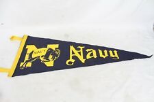 Vintage Navy Naval Academy Banner Pennant Rare Old Collectable Ram Football