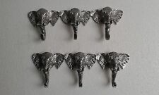 Aluminium Elephant Trunk Coat Hook Triple Lot of 2 pcs Figurine au