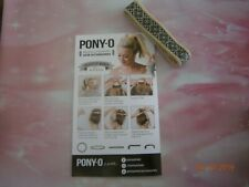 (1) ONE PONY-O Hair Tie Band Clip NEW! **Champagne w/Black Lace**