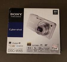 Brand New Factory Sealed Sony Cyber-shot DSC-WX5 12.2MP Digital Camera - Silver
