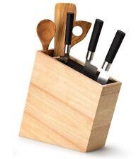 CONTINENTA Messerblock Messerhalter Utensilienbehälter schräg Holz 3317