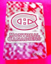 Montreal Canadiens NHL Hockey NEW Deck of Playing Cards (Pink)