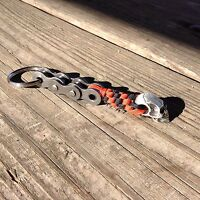 HARLEY DAVIDSON COLOR PARACORD WILLIE G MOTORCYCLE KEY CHAIN SOLID PEWTER SKULL