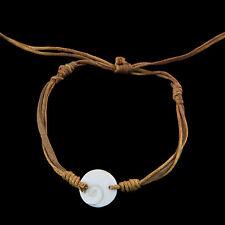 Bracelet bresilien Oeil de Sainte Lucie Cuir Shiva - Marron  999