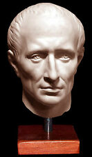 Italian Roman sculpture statue head of Julius Caesar Life size 45x25x23 cm white