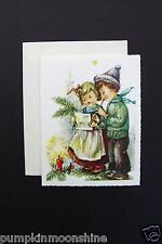 # I 42- Unused Xmas Greeting Card Children Singing Holiday Songs, Germany