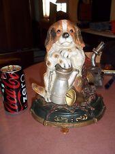 Antique Vintage Cast Iron Dog Doorstop Statue Figure
