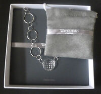 """Waterford Crystal Sterling Silver """"Alana"""" 16"""" Necklace 1st Quality Boxed New"""