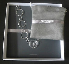"Waterford Crystal Sterling Silver ""Alana"" 16"" Necklace 1st Quality Boxed New"
