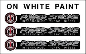 INTERNATIONAL HARVESTER  POWERSTROKE  3 DECAL SET  BLACK FADE
