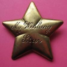 VINTAGE WISHING STAR BROOCH BADGE PIN SHOOTING WISH BOW SHOOTING SHERIFF LUCKY