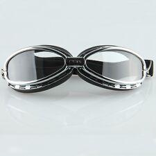 Motorradbrille Bikerbrille Sportbrille Sonnenbrille Schwarz Jethelme Goggles ATV