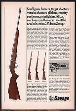 1965 SAVAGE 65 Bolt-action RIFLE AD w/ Stevens 46~34~73