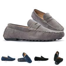scarpe UOMO college mocassino eco pelle scamosciata polacchini suol gomma dd0005