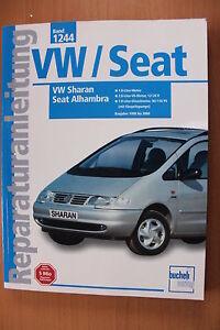 VW Sharan Seat Alhambra 1998-2000  Reparaturanleitung Handbuch