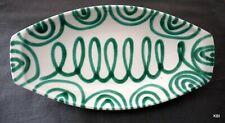 RAR Gmundner Keramik grün geflammt 1 Servierplatte / Fleischplatte / Salatplatte