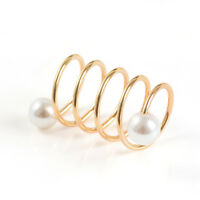 Fashion Women Pearl Shawl Buckle Gold Brooch Pin Scarf Clip Ring Jewelry Gifts