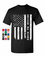 United We Stand T-Shirt 4th of July Patriotic USA American Flag Mens Tee Shirt