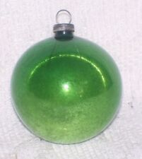 VINTAGE GREEN FEATHER TREE GLASS CHRISTMAS ORNAMENT SHINY BRITE