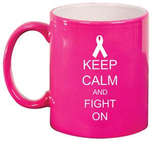 11oz Ceramic Coffee Tea Mug Glass Cup Keep Calm and Fight On Cancer