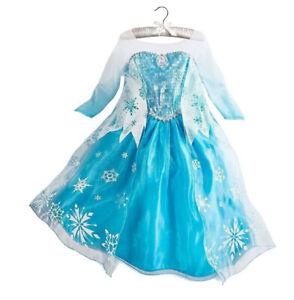 Kinder Mädchen Elsa Prinzessin Kleid Kostüm Schneewittchen Karneval Geschenk