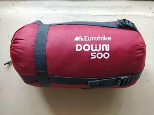 Eurohike down sleeping bag, 220cm long, 3 seasons,