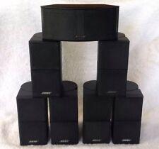 7 Bose MINT Jewel Double Cube Speakers 1 Center Channel 6 Surround Black 7.1/7.2