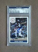 1992 Front Row Hank Aaron Signed Card #1 PSA/DNA Certified Authentic Auto
