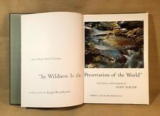 "VINTAGE 1962 + ""IN WILDNESS"" BY ELLIOT PORTER + SIERRA CLUB + THOREAU"