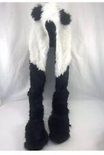 Panda Cozy Zone Animal Hat Winter Hat Warm Plush Long Arm Cap Beanie NWT