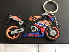 Honda CBR-1000 Repsol Motorcycle keychain Orange Black & Blue Only. As Pictures