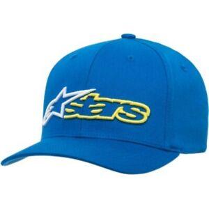 Alpinestars Reblaze Hat Blue/White/Yellow - Flexfit S/M Only