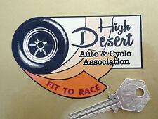 High Desert automático y ciclo de ajuste de raza escrutadores Etiqueta Auto Moto Racing Hot Rod