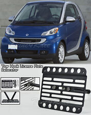 For 07-Up Smart ForTwo Front Bumper Tow Hook License Plate Bracket Relocator