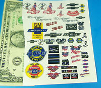 1/24 1:24 SLOT CAR CLEAR WATERSLIDE DECALS, Pure Chevrolet Chevy Nova Camaro V8