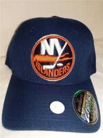 New York Islanders Mens Adult Size M/L Zephyr Blue Stretch Fit Cap Hat