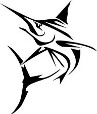 Sword fish Fishing decal auto window decal (Removable Vinyl)