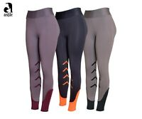 Astile Riding Tights Riding Leggings Two Tone With Silicon Knee Patch