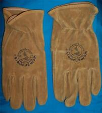 WOMENS PIGSKIN WORK GARDENING HORSE TRAIL RIDING GLOVES SIZE L MADE IN USA