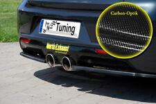 Heckansatz Rearspoiler Diffusor Cupwings für VW Golf 6 R aus ABS Carbon Optik