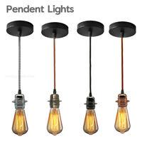 4 Cluster E27 Moderne Rétro Industriel pendentif plafonnier Lampe-Laiton Antique